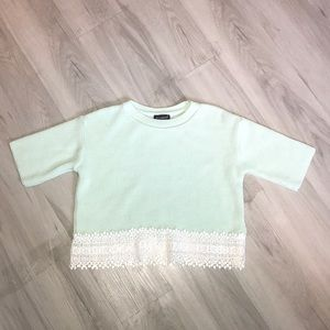 Topshop Mint Short Sleeve Sweater